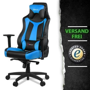 arozzi gaming stuhl vernazza blau schwarz pu ultraforce pro gamer pc systeme high end. Black Bedroom Furniture Sets. Home Design Ideas