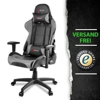 arozzi gaming stuhl verona v2 schwarz grau pu gaming pc kaufen g nstige pro gamer pcs. Black Bedroom Furniture Sets. Home Design Ideas